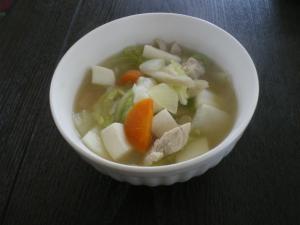 かぶと豆腐のスープ