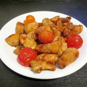 鶏とミニトマトのソテー