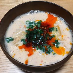 【豆乳でまろやか】簡単!キムチ豆乳スープ