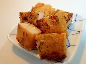 お弁当 おでんの蒲鉾のあおさ生姜マヨ焼き♬