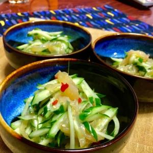 食感も美味しい♡中華くらげときゅうりの和え物