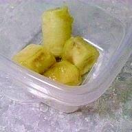 バナナのカラメル絡め焼き