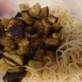 ナスの麺つゆラーメン