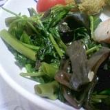 空芯菜とキクラゲの炒め