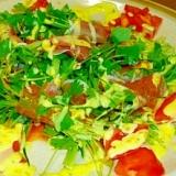 生ハムイタリアンパセリのサラダ仕立てマスタード風味