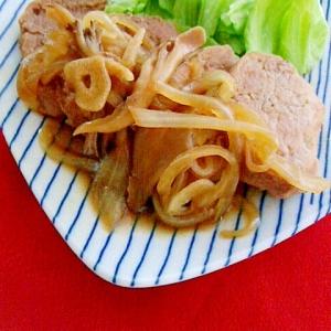 豚ヒレ肉のソテー:舞茸オニオンソース