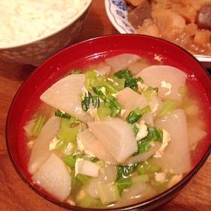 かぶと卵の中華スープ