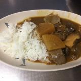 赤味噌+牛すじと椎茸、大根、こんにゃくの和風カレー