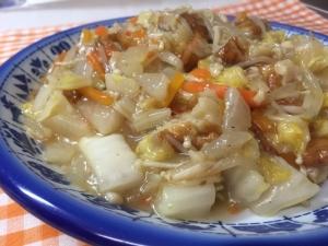 白菜と大根のトロッと中華炒め
