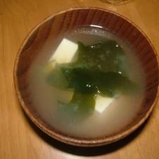 【激速】【汁物】【5分】豆腐味噌汁