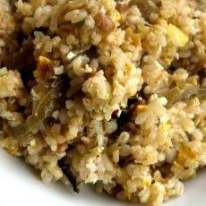高菜と納豆の炒飯