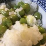 塩えんどう豆 混ぜご飯
