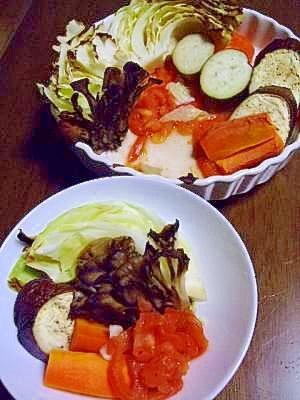 色々焼き野菜 トマト添え