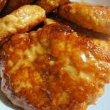 ★簡単☆鶏ひき肉と豆腐の照り焼きハンバーグ★