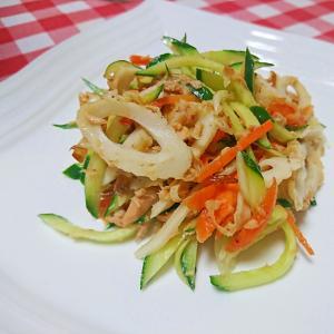 竹輪とツナの入ったサラダ