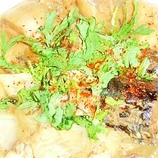 聖護院大根と麩の鯖の味噌煮缶煮