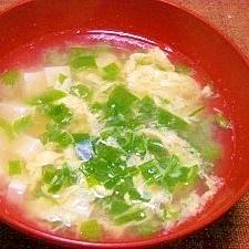 毎日のお味噌汁68杯目*豆腐、細葱、卵