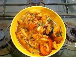 マゴチの味噌炒め煮