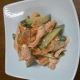 鶏のささみ★キムチマヨ