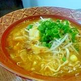 マルちゃん正麺味噌味でスタミナラーメン♪