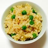 圧力鍋で☆玄米☆ピースご飯