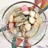 牡蠣とはんぺんあられの和え物