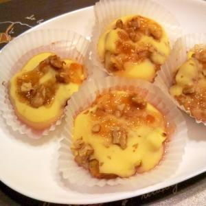 米粉パン(イチジク・りんごジャム・クルミ)