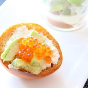 低糖質☆アボカドいくらクリームチーズソーストースト