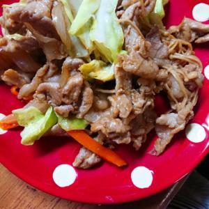 4種の野菜と豚肉炒め