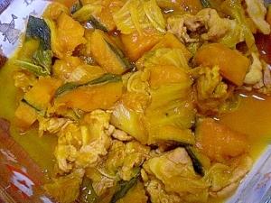 「かぼちゃと白菜の煮物」   ♪♪