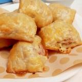 冷凍パイシートで!ソーセージとチーズの一口パイ♪
