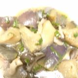 業務用スーパーの揚げナスを使用した煮物