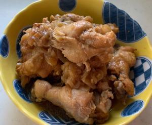 圧力鍋でスピード調理 鶏手羽元の酢醤油煮