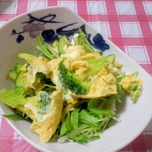 ヘルシー☆ブロッコリー&卵のおかかポン酢サラダ