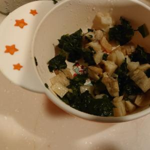 長芋とほうれん草の煮物