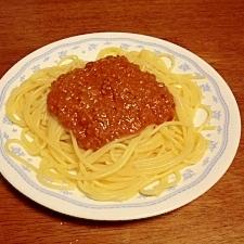 トマトたっぷりミートソース