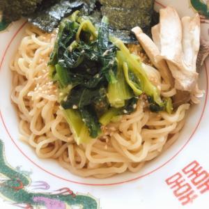 小松菜炒めのせ冷やし中華