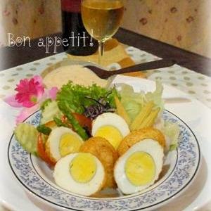 ☆★素揚げした茹で卵の!サラダ♪★☆