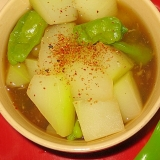 冬瓜とししとうのスープ