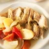 8インチダッチオーブン(鉄鍋)で鶏肉の野菜蒸し