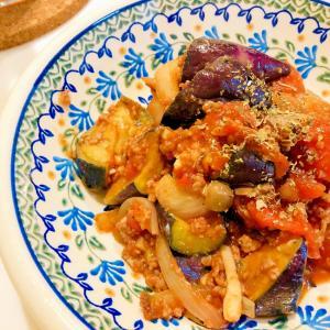 ナスと挽き肉のトマト煮込み