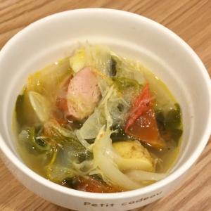 酢キャベツの野菜たっぷりスープ♪