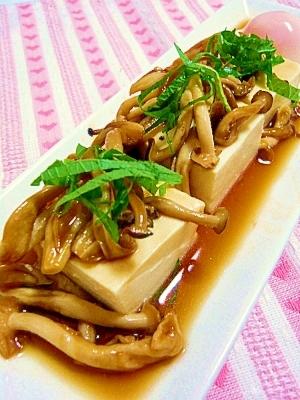 豆腐☆甘辛きのこダレ
