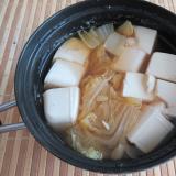 白菜と豆腐煮