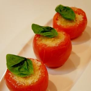 トマトのオーブン焼き~カプレーゼ風