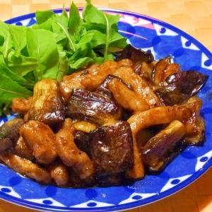 茄子と豚肉のバルサミコ酢炒め