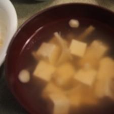 えのきと豆腐のとろみスープ