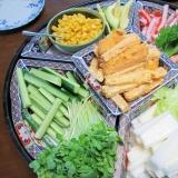 野菜タップリの手巻き寿司