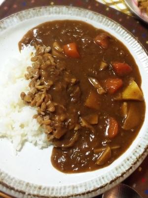 ネバトロ〜っと美味しい納豆カレー