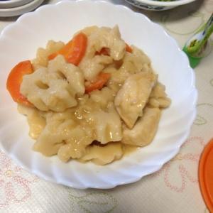 ちくわぶと揚げ豆腐の煮物